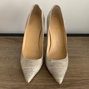 Ivanka Trump heels black & ivory